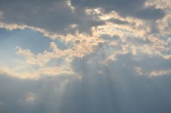 Sun rays from clouds Stock Photography