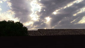 Sun Rays and Clouds on Windy Day stock footage