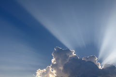 Sun rays come through clouds. Stock Photography