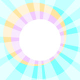 Sun Rays communion wafer. Border frame with white sun rays shining and a white communion wafer Stock Image