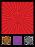 Sun rays design element. Popular design element called sun rays. 4 different colors included (red, brow, purple, black vector illustration