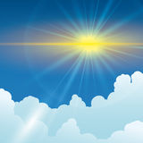 Sun rays design. Stock Photos