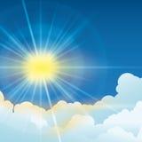 Sun rays design. Stock Images