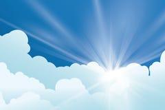 Sun rays design. Stock Image