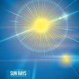 Sun rays design. Royalty Free Stock Photos