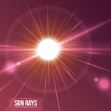 Sun rays design. Royalty Free Stock Image