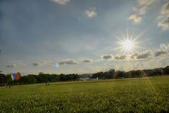 Sun rays at Freedom park at Washington Royalty Free Stock Photos