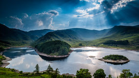 Sun rays on Haweswater Stock Photo