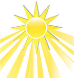 Sun rays icon logo Royalty Free Stock Image