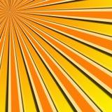 Sun rays illustration Stock Photos