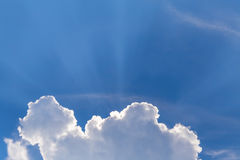 Sun rays and light sky Royalty Free Stock Image