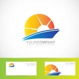 Sun rays logo Stock Images