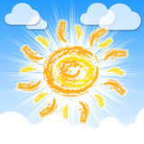 Sun Rays Means Summer Time And Warm Royalty Free Stock Photo