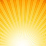 Sun rays. Orange background with sun rays Stock Photography