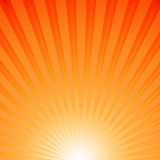 Sun rays. Orange background with sun rays Stock Photo