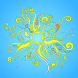 Sun rays ornament royalty free stock images