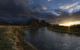 Sun Rays over the River Royalty Free Stock Image