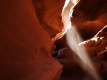 Sun rays peeking through the canyon Stock Photography