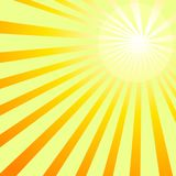 Shining sun rays backgroung vector image. Sun rays ray shining sunshine orange shine background abstract backgrounds stock illustration