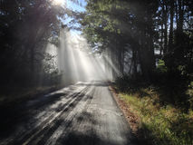 Sun Rays Remote Road Royalty Free Stock Photography