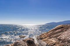 Sun rays on the sea Royalty Free Stock Image