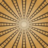 Sun with rays star burst television vintage background. Vector background film Stock Photo
