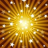 Sun Rays and Stars. Abstract Background Illustration, Vector vector illustration