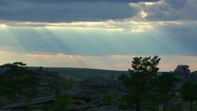 Sun rays stock footage