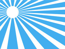 Sun rays. Vector background sun rays with blue and white retro color Stock Photography