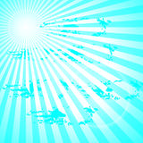 Sun rays. Vector background sun rays with blue and white retro color,vector Stock Photo
