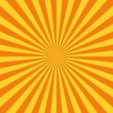 Sun rays. Vector. Vector illustration in flat style Stock Photography
