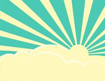 Free Sun Rays With Retro Color Behind The Clouds Royalty Free Stock Image - 114856486