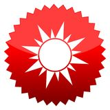 Sun, Red sun sign. Red sun sign sun,  icon Stock Images