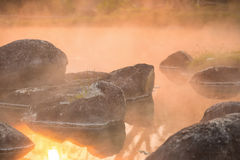 Free Sun Reflecing On The Hot Spring At National Park During Sunrise Stock Images - 88176204