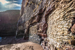 Sun reflecting off a cliff wall - HDR Royalty Free Stock Images