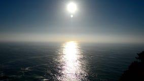 Sun reflecting off the sea stock footage