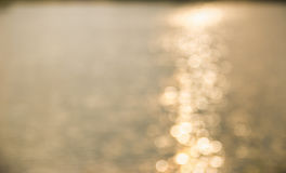 Sun reflecting on the water in the warm tone Royalty Free Stock Photography