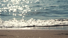 Sun reflection on sea surface stock video