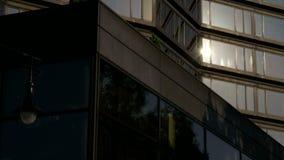 Sun reflection on window stock video footage