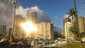 Sun-Reflexion Stockfoto