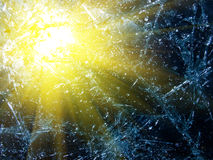 Sun reflexion in glass. аbstract background Stock Images