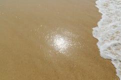 Sun reflexion i sand Royaltyfria Bilder