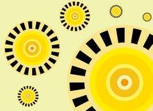 Sun-Retro- Hintergrund Stockfotos