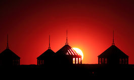 Sun Rise. In Beijing, Red lovely Royalty Free Stock Images