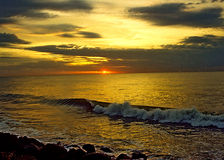 SUN RISE. AT PONDICHERRY SOUTH Royalty Free Stock Photo