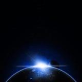 Sun Rise Blue Eclipse Stock Image