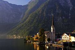 Sun rise in Hallstatt Stock Photos