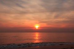 Sun rise at Hua-Hin beach Stock Photos
