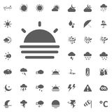 Sun rise icon. Weather vector icons set. Royalty Free Stock Photos