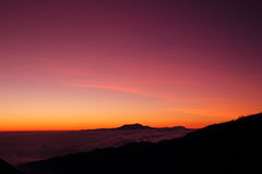 Sun rise. In indonesia near the bromo volcano Royalty Free Stock Photos